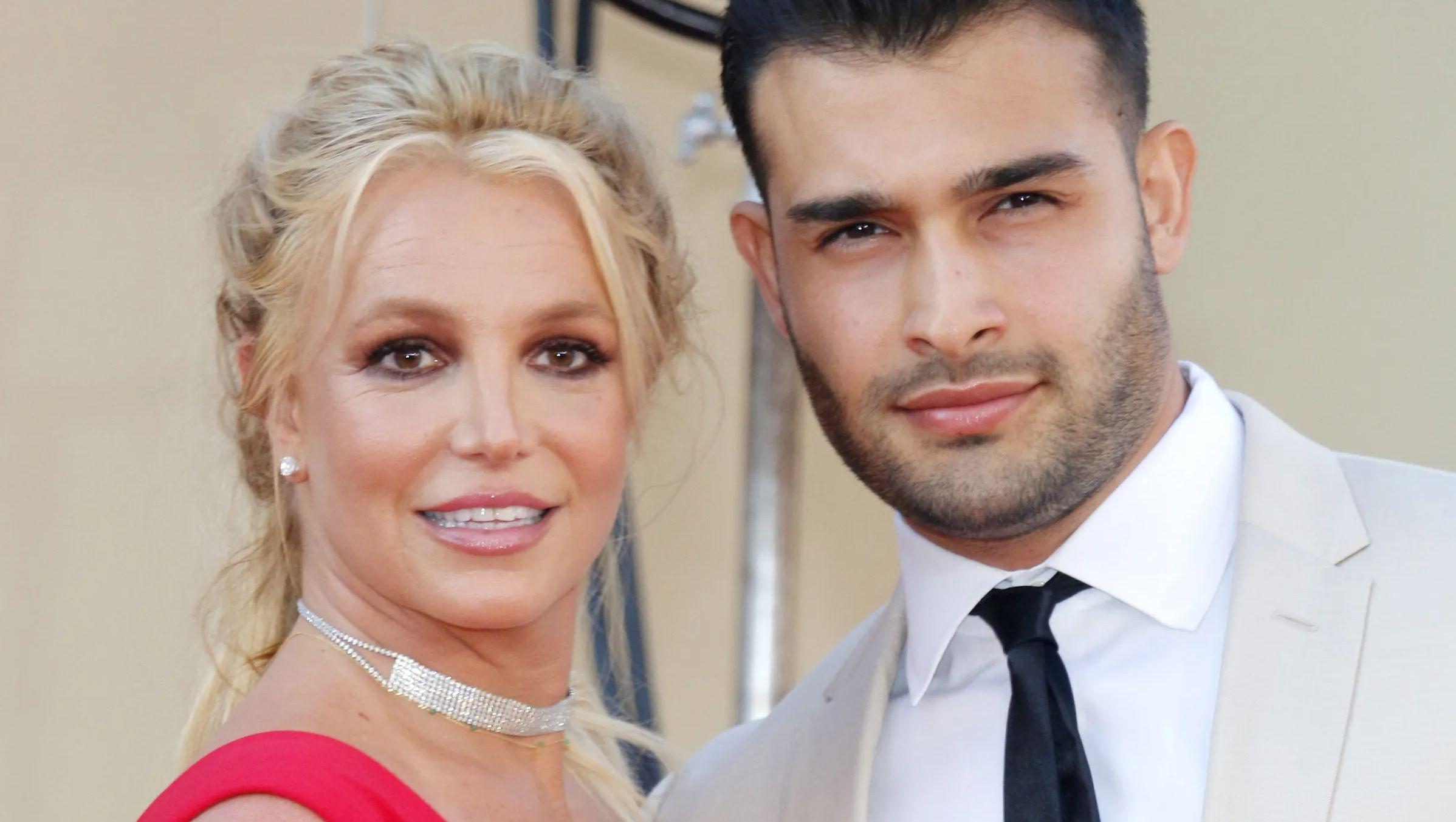 Britney Spears with Sam Asghari