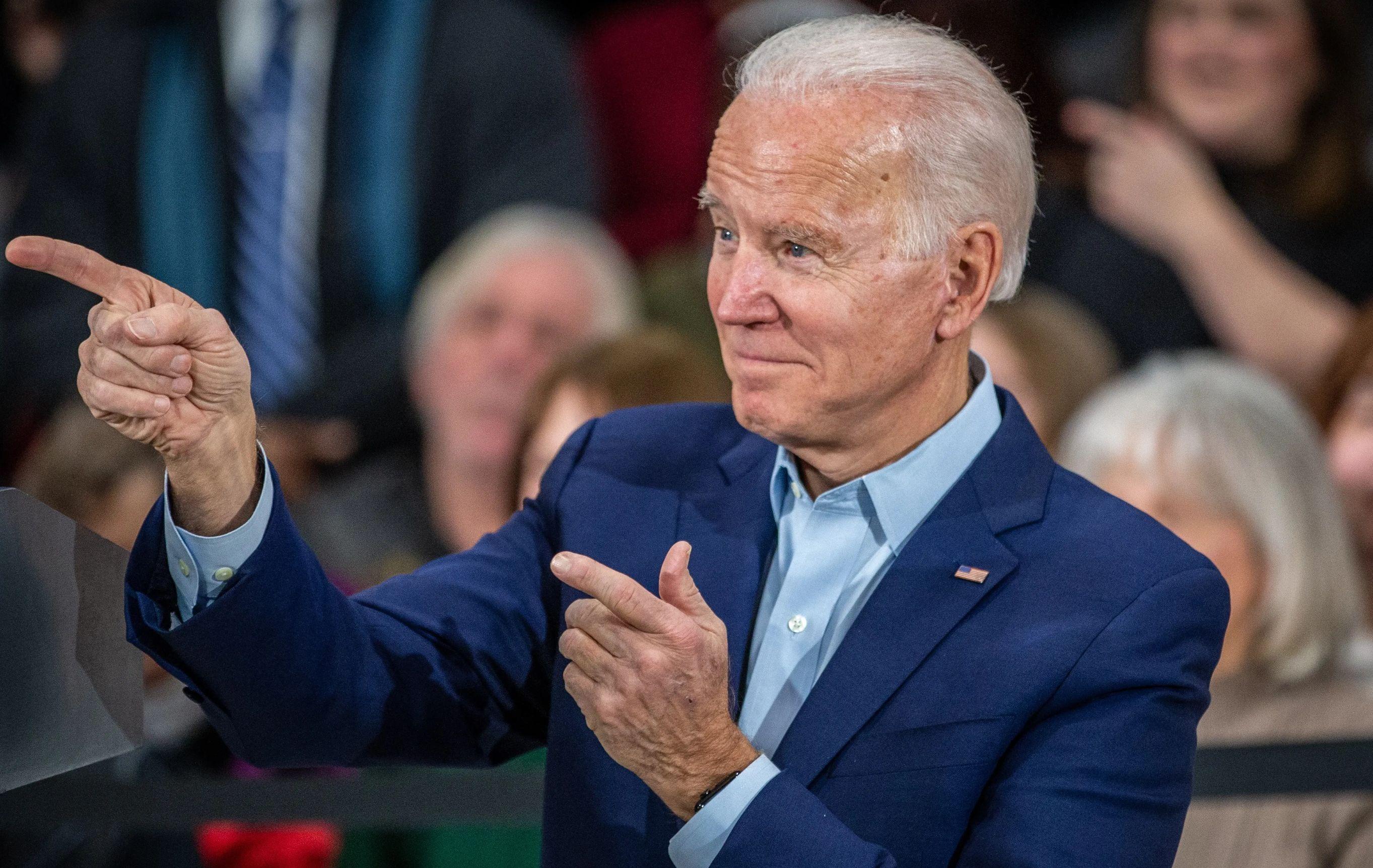 President Joe Biden holds a campaign rally.