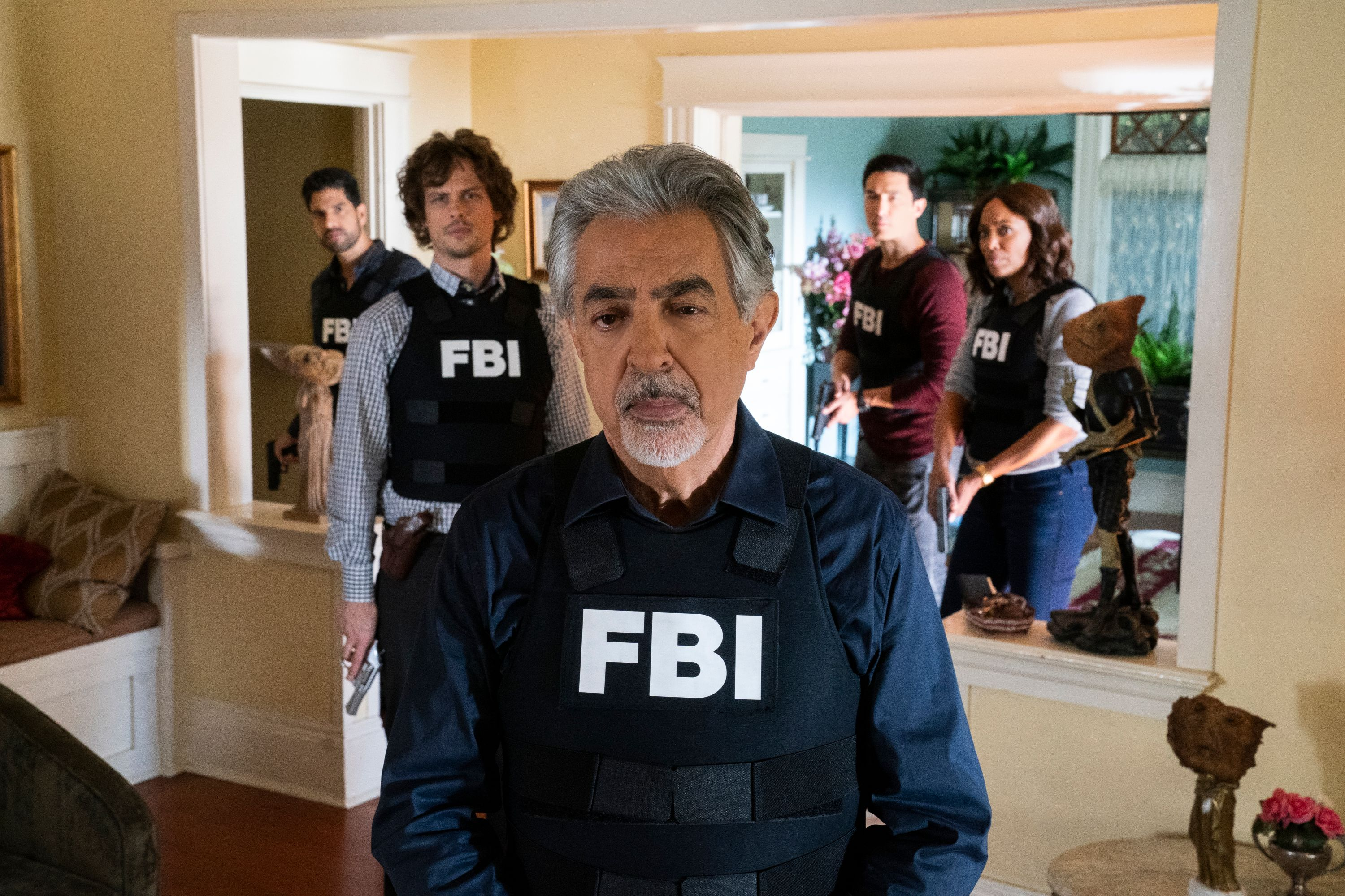 The cast of Criminal Minds in a scene.
