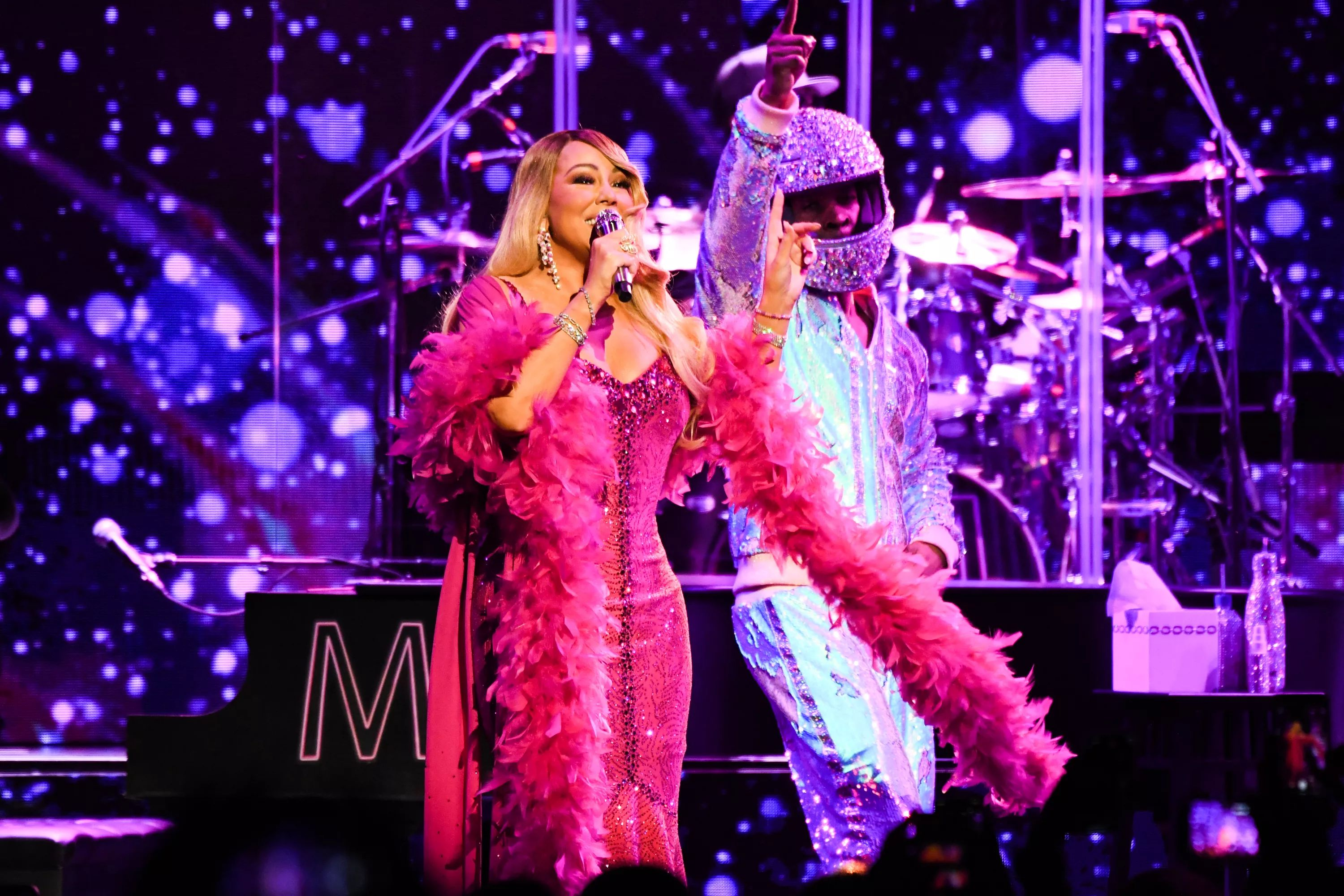 ATLANTA, GEORGIA - MARCH 05: Mariah Carey performs onstage during the the Caution World Tour at Fox Theater on March 05, 2019 in Atlanta, Georgia.