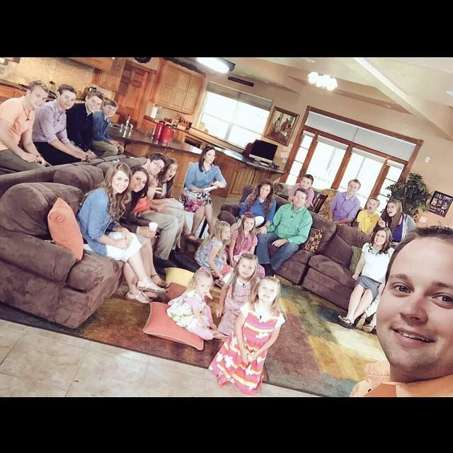 A large gathering at the Duggar family home