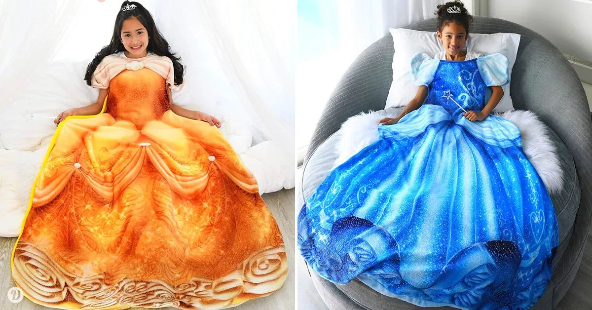 Amazon Is Selling Disney Princess-Inspired Blankets Fit For Your Own Little Princess