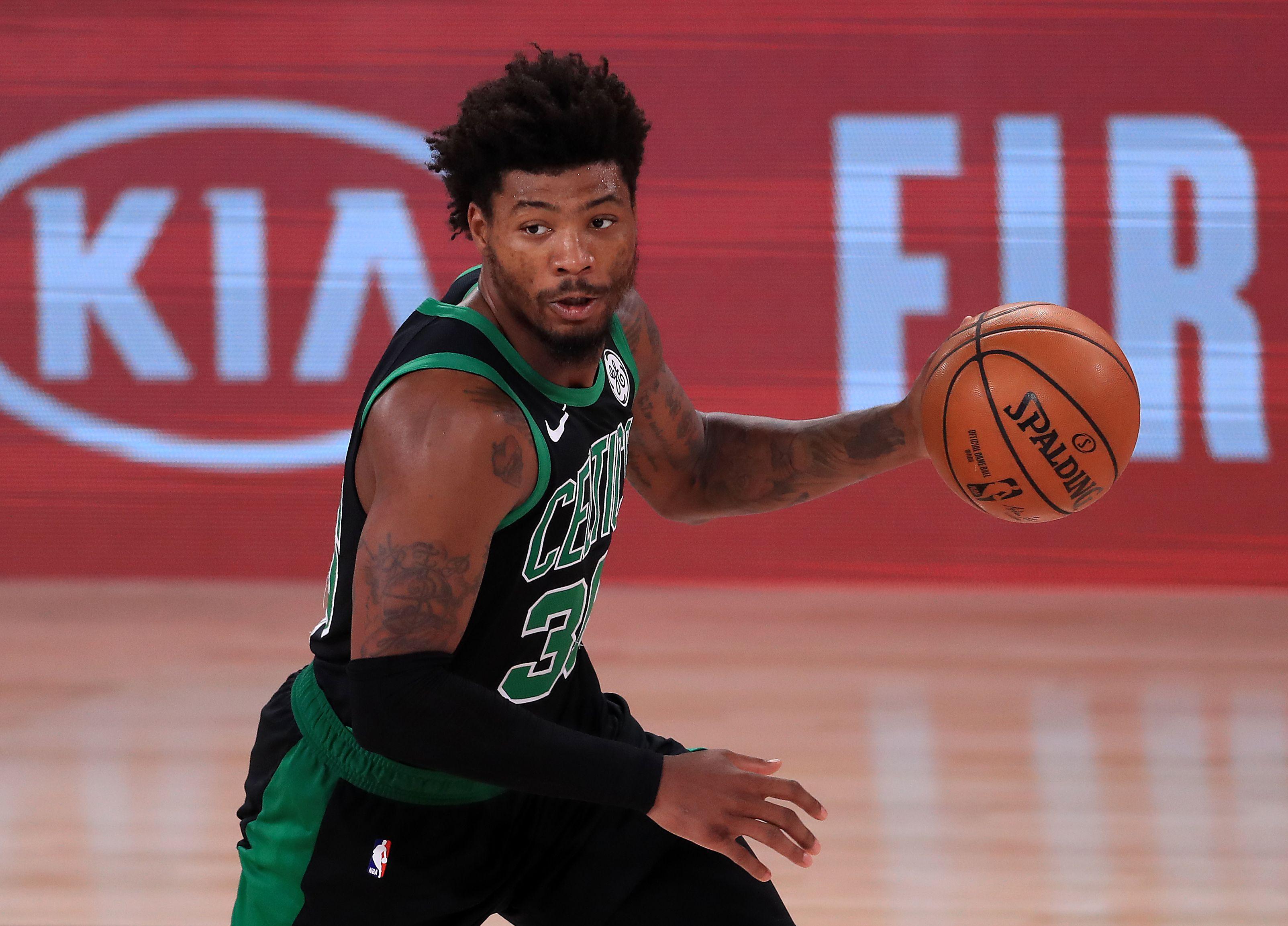 Marcus Smart running the Celtics' offense