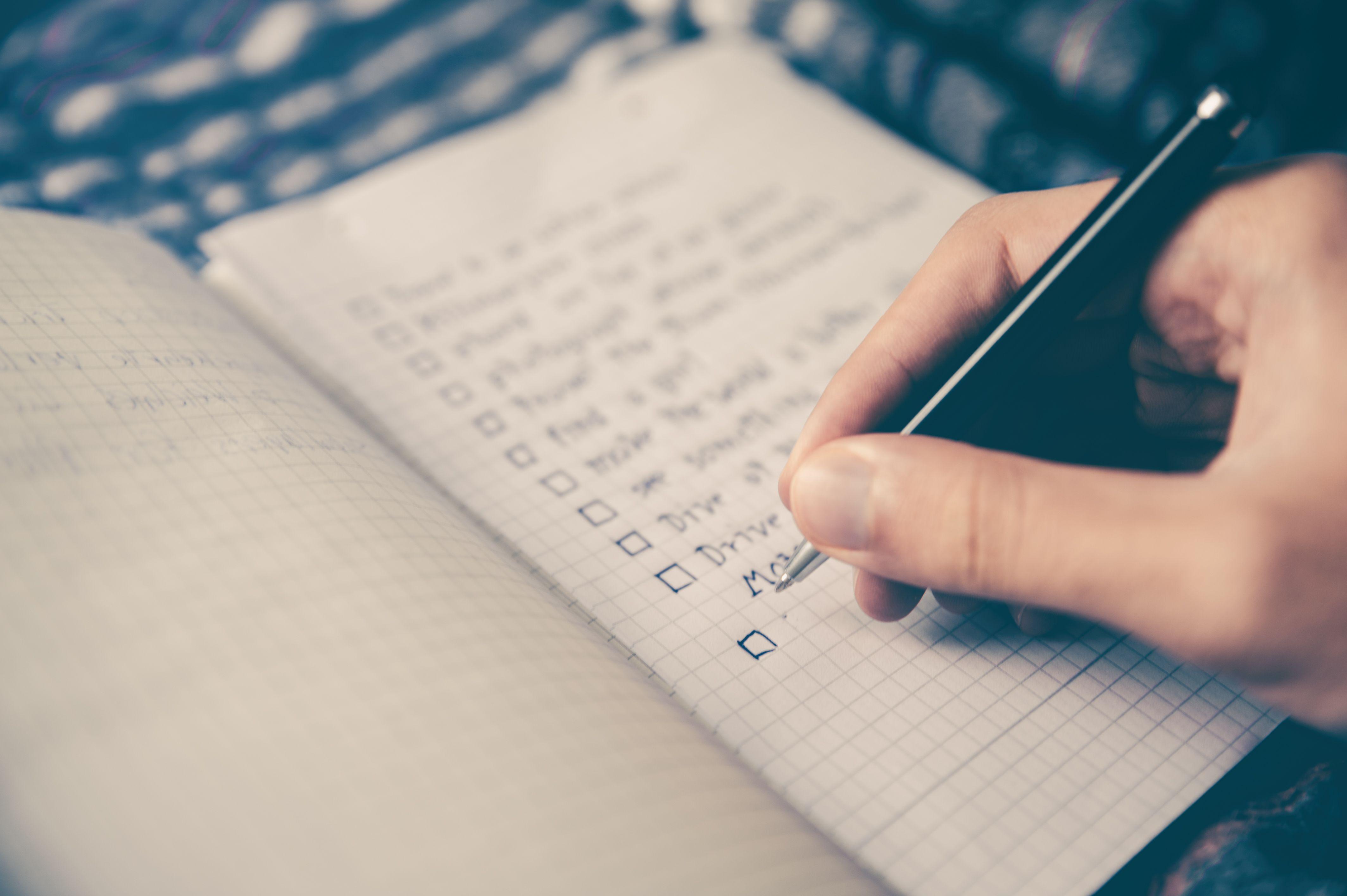 list being written