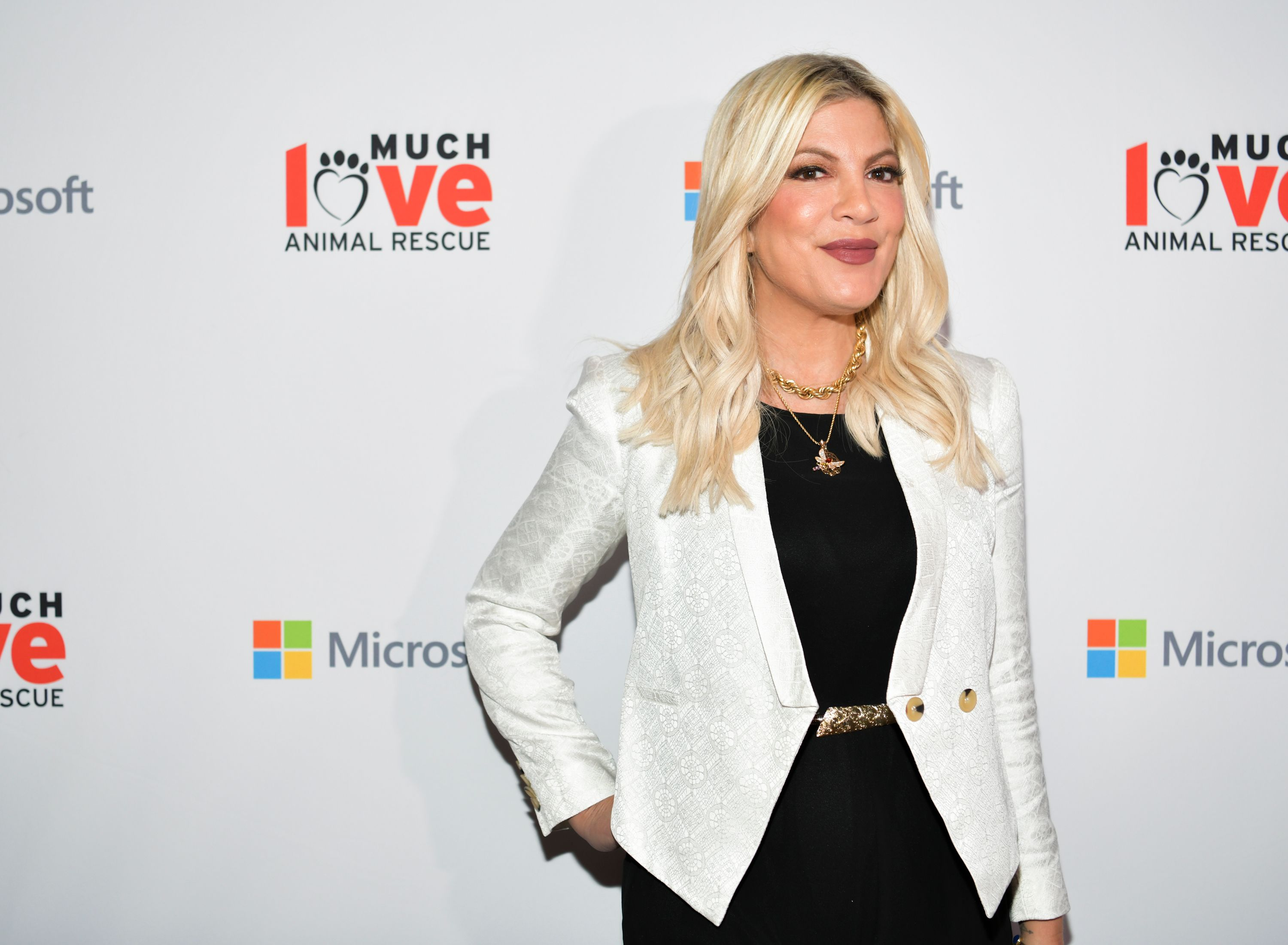 Tori Spelling at an event