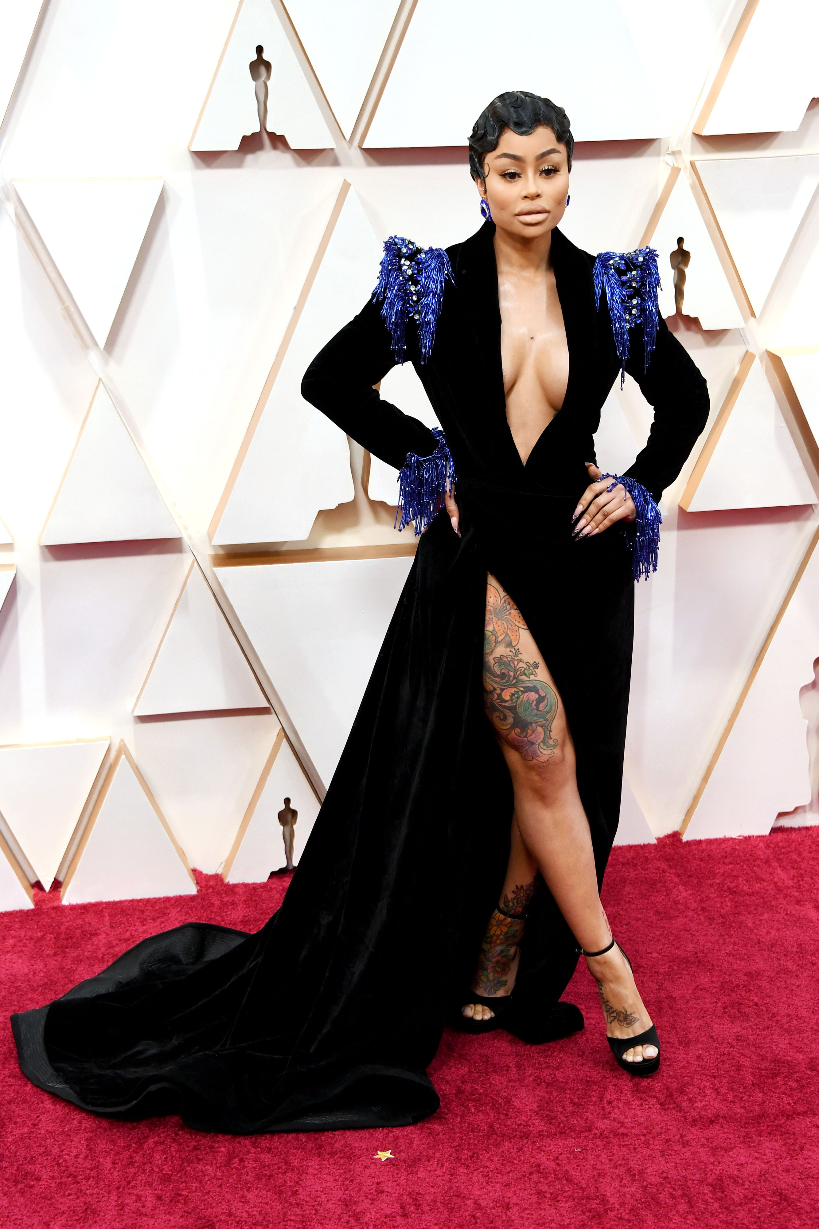 Blac Chyna on the red carpet at Oscars 2020