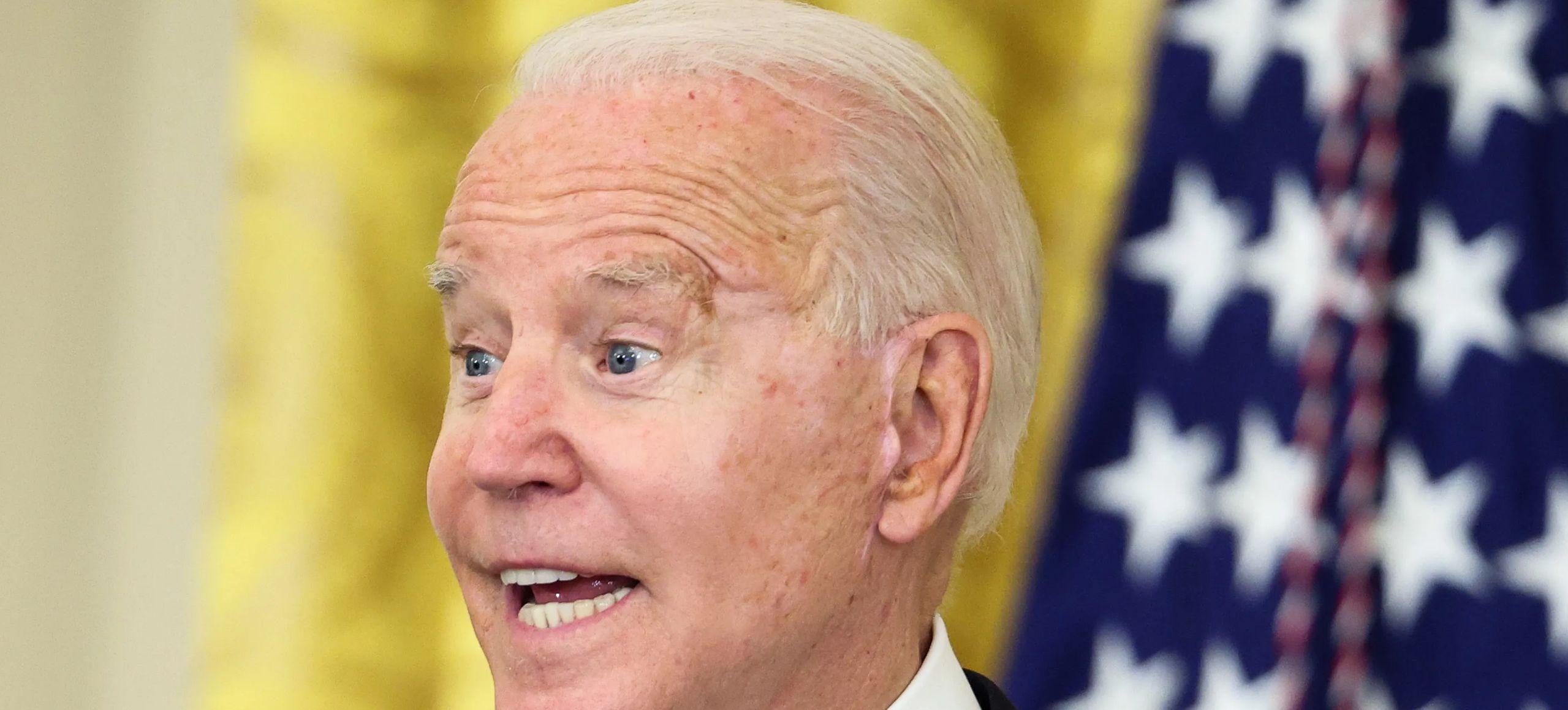 President Joe Biden speaks at a press conference.