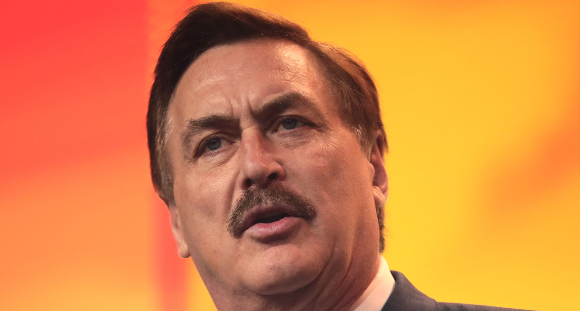 MyPillow CEO Mike Lindell delivers remarks.