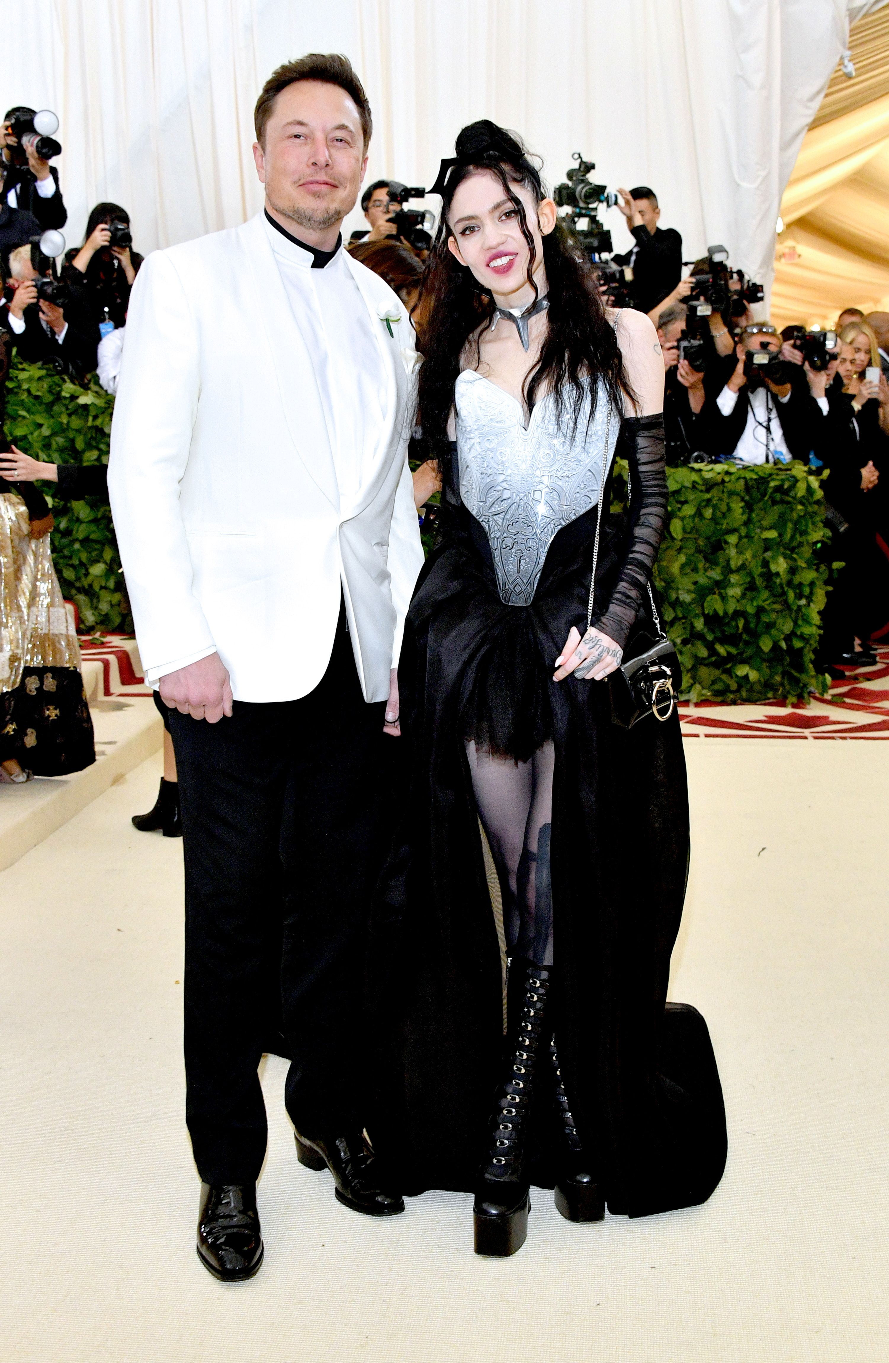 Elon Musk & Grimes dress up for Met Gala 2019