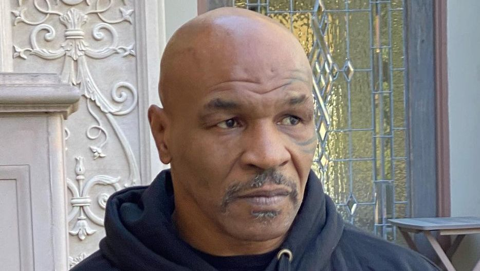 Closeup of Mike Tyson