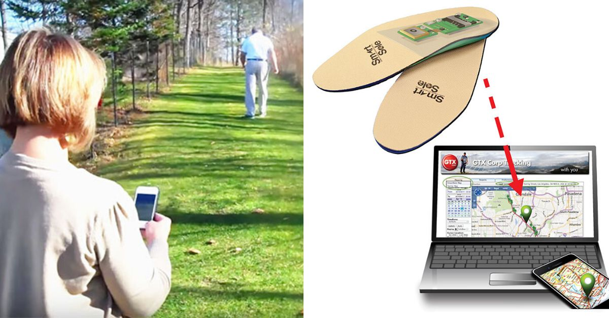 Shoe with GPS insole lets you track loved ones with