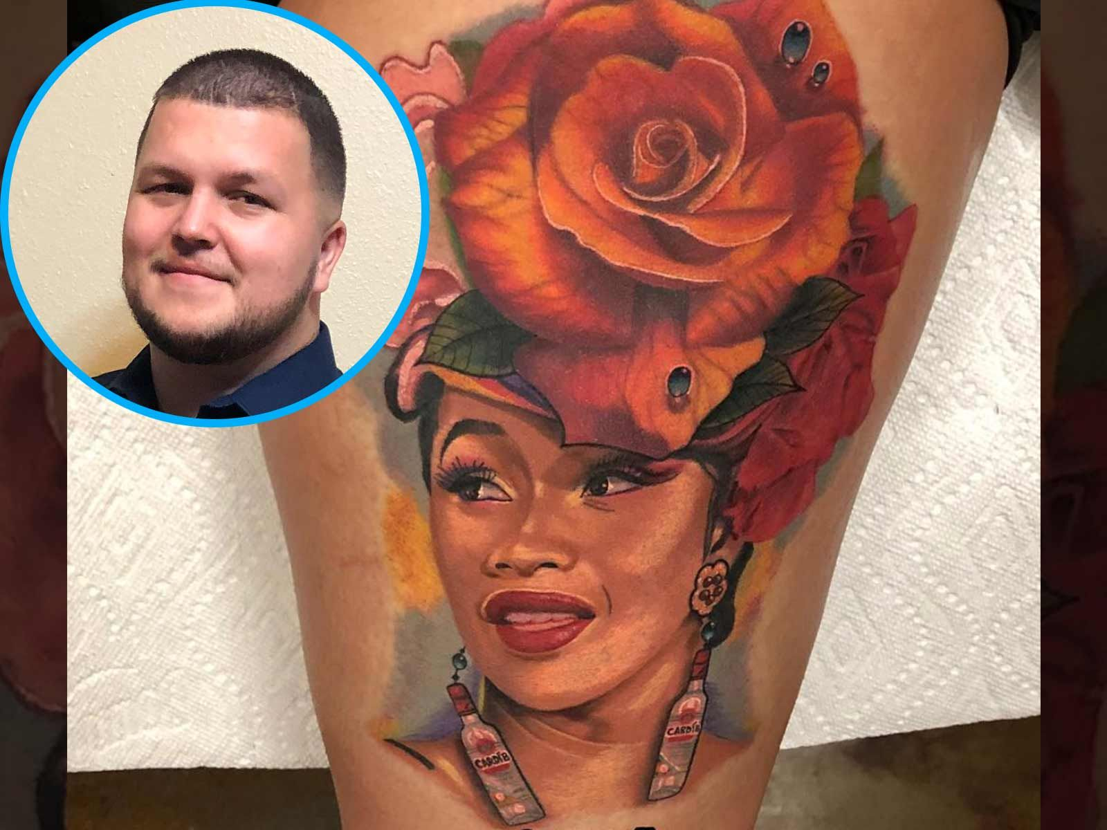 Cardi B Super Fan Gets Her Face Tattooed On Her Thigh: Cardi B Gets Immortalized In More Tattoo Tributes By