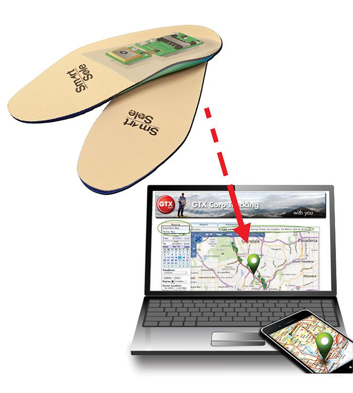 Shoes with GPS Insole Lets You Track Loved Ones With
