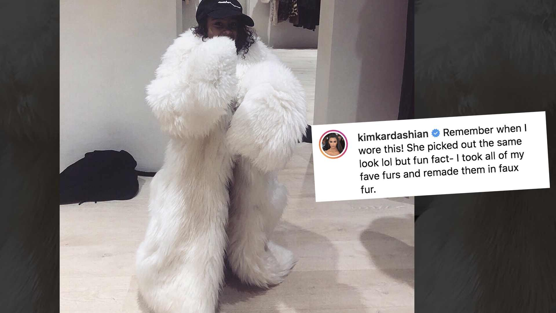Kim Kardashian Shares North West in 'Fur,' Shuts Down Haters